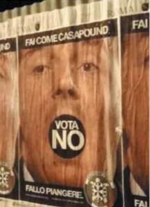 Referendum |  CasaPound per il No  Il manifesto contro Renzi