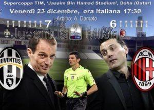 Juventus-Milan, diretta Supercoppa Italiana: formazioni ufficiali video gol highlights foto pagelle