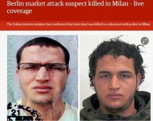 Anis Amri ucciso a Milano Bild a caratteri cubitali6