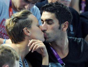 Filippo Magnini e Federica Pellegrini (foto Ansa)