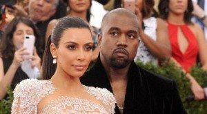 Kim Kardashian e Kanye West (foto Ansa))