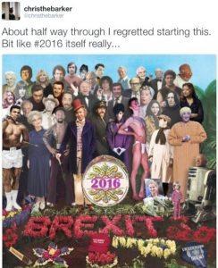 Prince, Bowie, Alì Stg Pepper's, copertina Beatles ridisegnata con star morte nel 2016