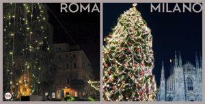 Roma, l'albero di Natale fa pietà il triste confronto con quello di Milano3