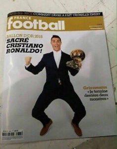 Ronaldo vince il quarto pallone d'oro: lo svela la copertina di France Football FOTO