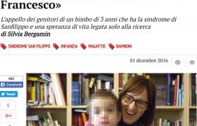 """Francesco, malato della sindrome di Sanfilippo. I genitori: """"Aiutateci a dargli un futuro"""""""