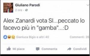 """Alex Zanardi, il sindaco Giuliano Parodi si scusa: """"Ma io vittima di cyberbullismo"""""""