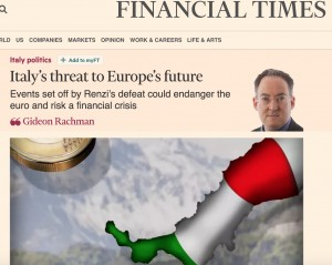 """Referendum, Financial Times: """"Peggio di Brexit per la sopravvivenza della Ue"""""""