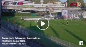 Primavera, Roma-Lazio 5-0: video gol. Tripletta di Soleri