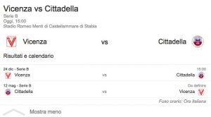 Vicenza-Cittadella streaming - diretta tv, dove vederla