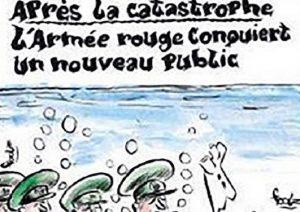 """Charlie Hebdo, vignette su aereo caduto. Russia: """"Escrementi"""""""