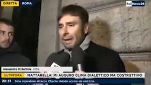 """YOUTUBE Alessandro Di Battista, video parodia: """"Io voglio che i cittadini devono votare"""""""