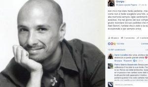 Giorgia, post Facebook per i 50 anni di Alex Baroni