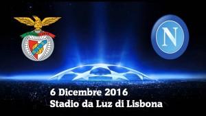 Benfica-Napoli: streaming e diretta tv, dove vedere Champions League
