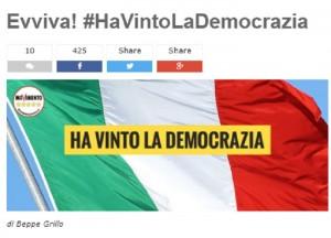 """Beppe Grillo sul blog: """"Ora elezioni, e si voti con Italicum"""""""