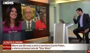 """YOUTUBE Carrie Fisher, la battuta del giornalista: """"Anche Chewbecca..."""""""