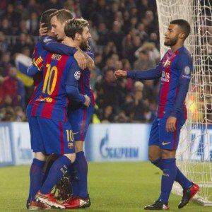 Barcellona-Borussia Moenchengladbach 4-0, video gol highlights: Arda Turan tripletta