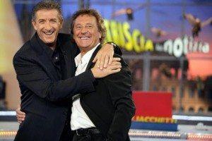 Ezio Greggio e Enzo Iacchetti (foto Ansa)