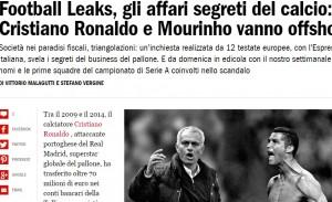 Football Leaks: su L'Espresso gli affari di Mourinho, Ronaldo, Higuain...