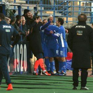 Levan Mchedlidze selfie dopo gol in Empoli-Cagliari (FOTO)