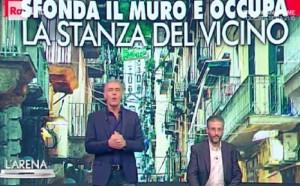 Umberto Liberti e il muro sfondato: Giletti chiama la Questura e...