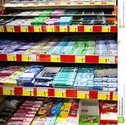 Chewing gum in un supermercato