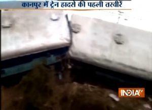 YOUTUBE India, treno deraglia a Kanpur: almeno 2 morti