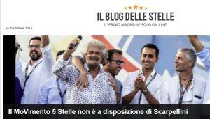 """Blog Grillo: """"Marra a disposizione Scarpellini, M5S no"""". Ma base è in rivolta"""