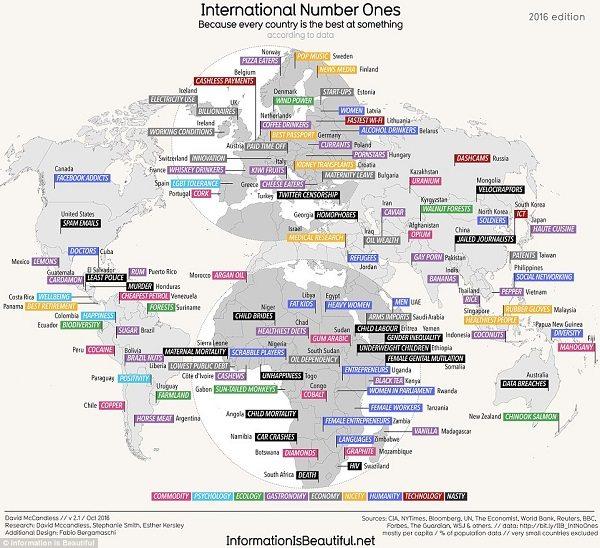 Mappa primati mondiali: wifi più veloce in Lituania, più spam negli Usa... noi abbiamo i kiwi