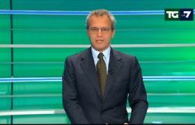 Consultazioni, Enrico Mentana: pubblicità mentre parla Berlusconi