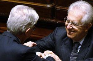 """YOUTUBE Mario Monti vota fiducia a Gentiloni. Da destra: """"Bacio della morte""""..."""