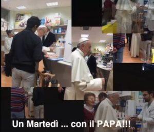 Papa Francesco compra scarpe in via del Gelsomino