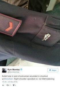 Cristian Movio, FOTO divisa perforata da proiettile sparato da Anis Amri
