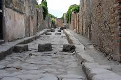 Una strada di Pompei