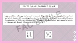 Referendum exit poll Piepoli: Sì 42-46%, No 54-58%