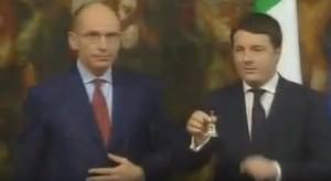 Gelo al passaggio di consegne Letta-Renzi