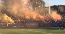 VIDEO YOUTUBE Roma festa al Tre Fontane dopo derby: 4000 tifosi