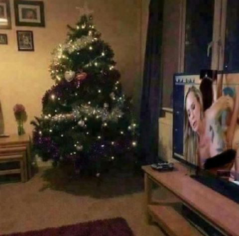 Scott Hall pubblica foto di albero di Natale, ma c'è particolare a luci rosse 01