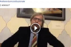 """YOUTUBE Vittorio Sgarbi: """"Referendum, ha vinto Renzi perché col 41%..."""""""