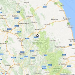 Terremoto, scossa di magnitudo 3.9 vicino Camerino