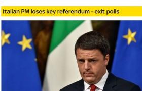 Renzi dimissioni: notizia su tutti i siti del mondo