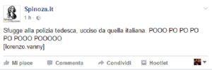 """Anis Amri, Spinoza: """"Polizia Italia batte Germania, pooo po po po..."""""""