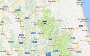 Terremoto magnitudo 3 tra Macerata, Ascoli e Foligno