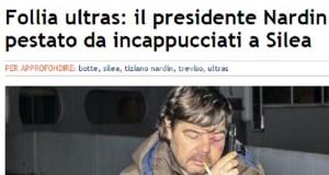 Tiziano Nardin, presidente Treviso aggredito da tifosi dopo sconfitta
