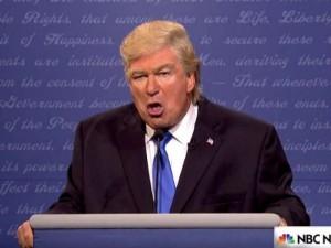 """aturday Night Live imita Donald Trump. Lui: """"Inguardabile, che schifo!"""""""