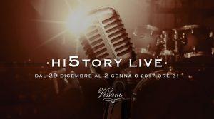 """Hi5toryLive a Casa Vissani, dal 29 dicembre al 2 gennaio, musica dal vivo e """"piatti dedicati"""""""