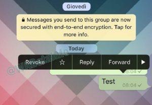 Whatsapp, con Revoke potrai cancellare i messaggi inviati