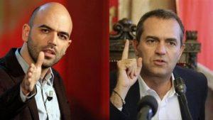 """Napoli, scontro De Magistris-Saviano. Sindaco: """"Tuo successo cresce con spari camorra"""". Scrittore: """"Sarai accoltellato da suoi lacché"""""""
