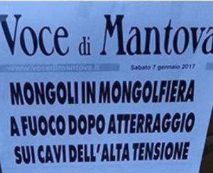 """""""Mongoli in mongolfiera"""": il titolo de """"La Voce di Mantova"""" offende i disabili"""