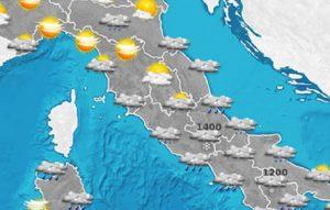 Previsioni meteo lunedì 23 gennaio 2017 e martedì 24 gennaio