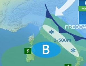 Previsioni meteo lunedì 16, martedì 17, mercoledì 18 gennaio